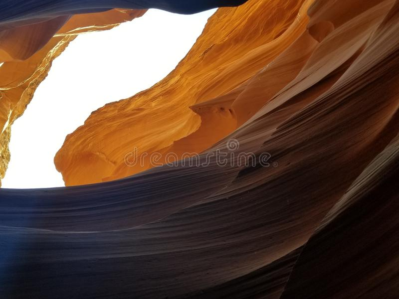 探索的羚羊峡谷亚利桑那美国 免版税库存照片