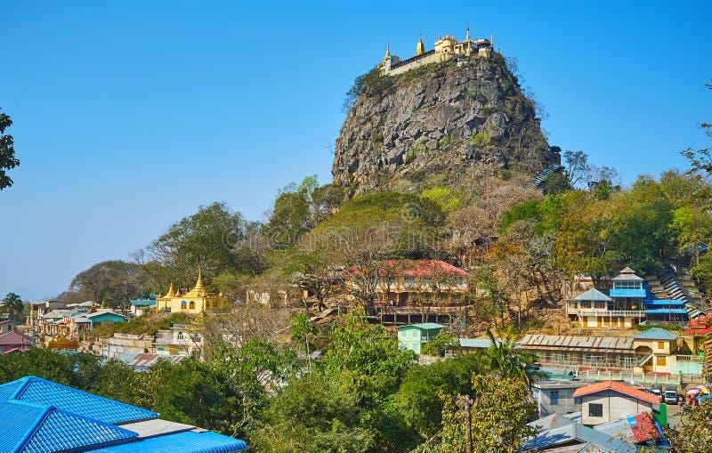 探索祀奉波帕岛,缅甸 免版税库存照片