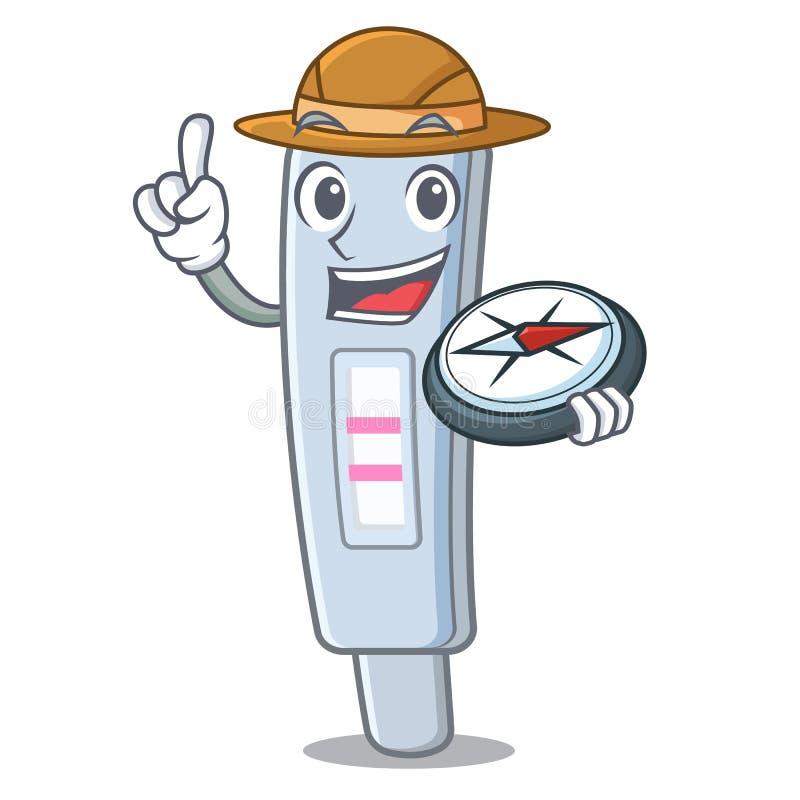 探险家在动画片药柜的测试组装 库存例证