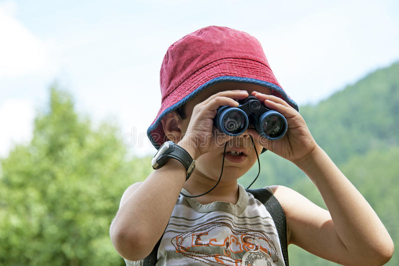 探险家年轻人 免版税图库摄影