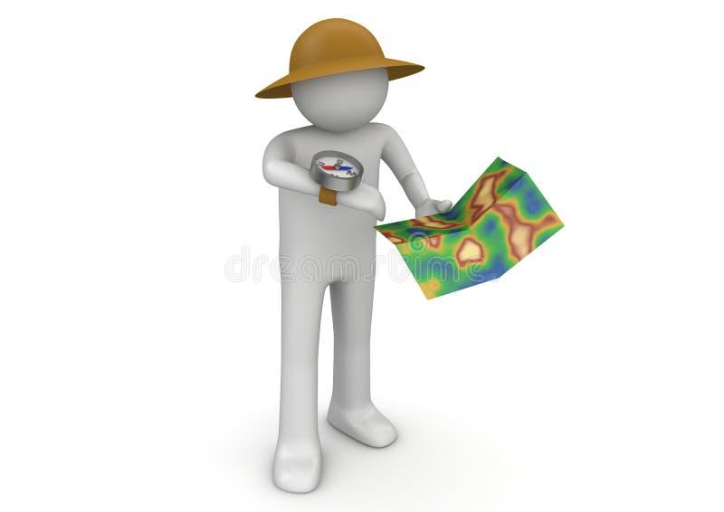 探险家 库存例证
