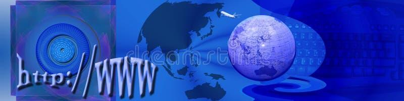 探险标头互联网 向量例证