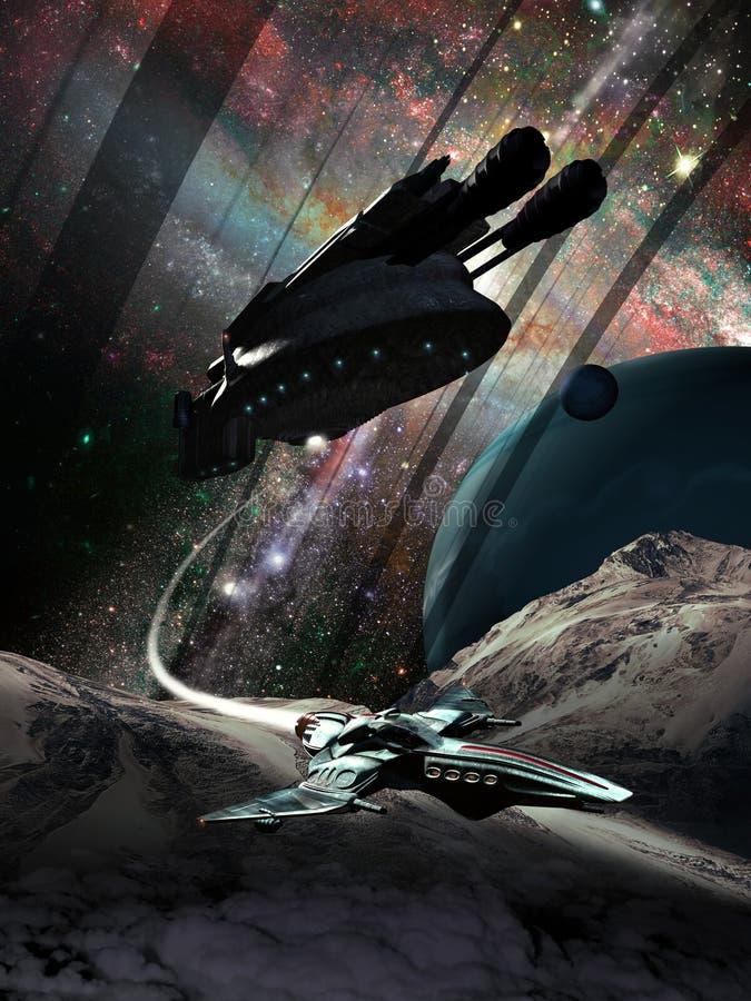 探索的远的行星 库存例证