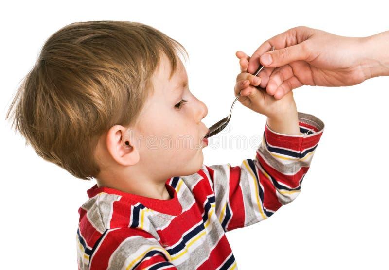 接受儿童医学 库存照片