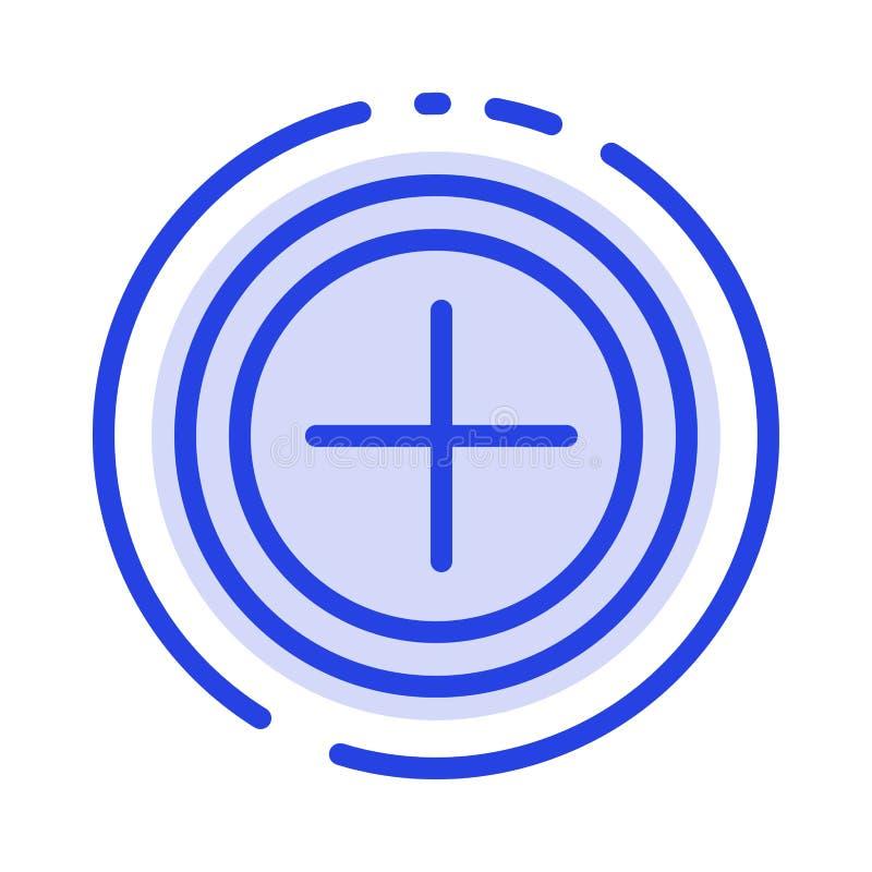 接口,加号,用户蓝色虚线线象 皇族释放例证