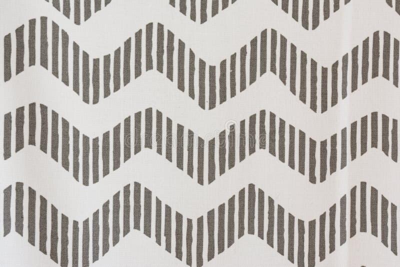 接合的斑马灰色条纹样式枕头织品纹理 免版税图库摄影