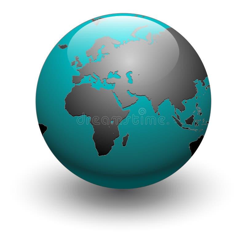 接地地球向量世界 库存例证