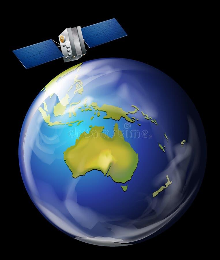接地轨道的卫星 皇族释放例证