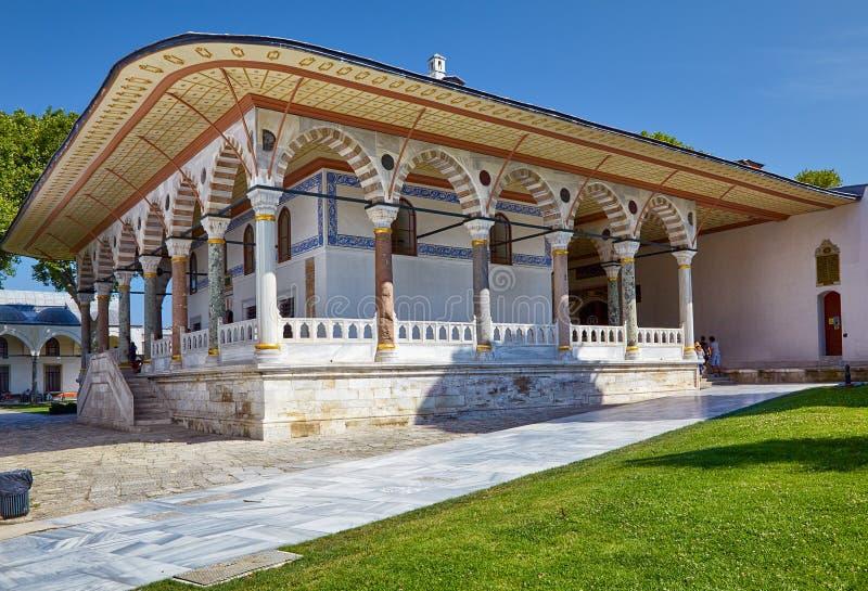 接见室, Topkapi宫殿,伊斯坦布尔 免版税库存图片