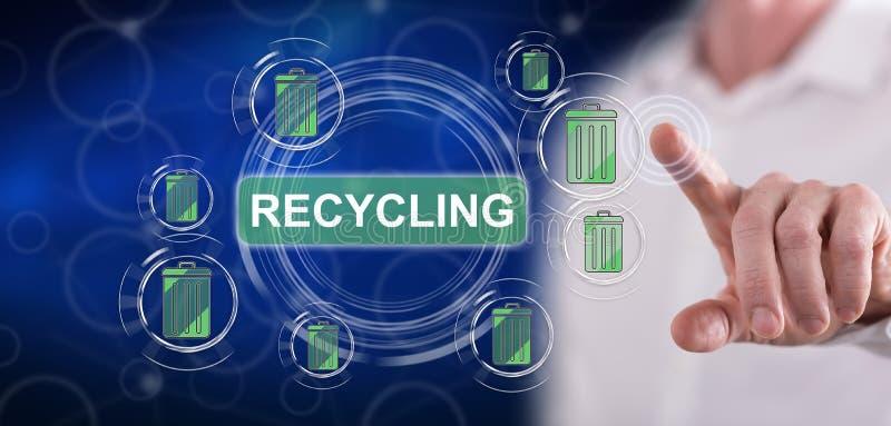 接触一个回收的概念的人 免版税库存图片