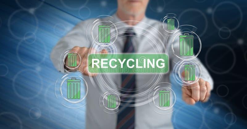 接触一个回收的概念的人 库存照片