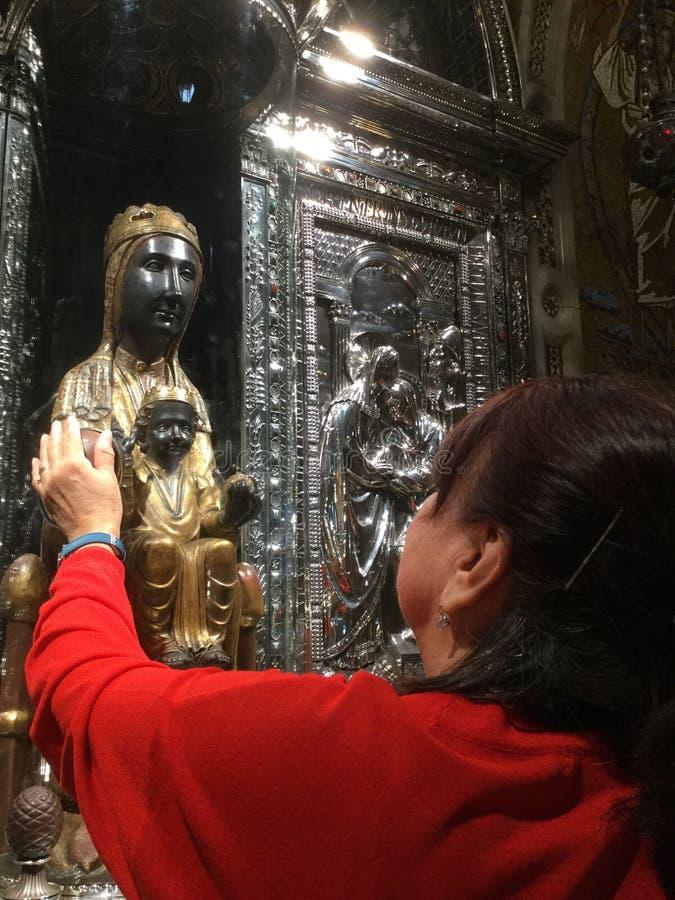 接触圣母玛丽亚 免版税图库摄影