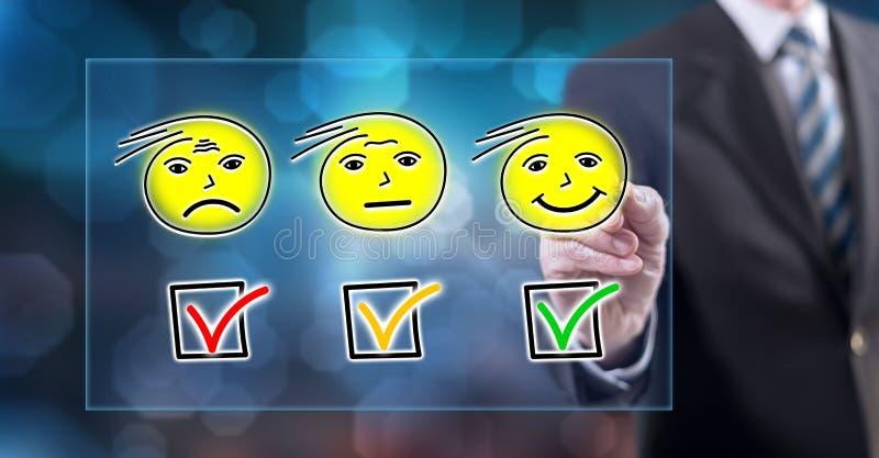 接触评估概念的人 库存例证