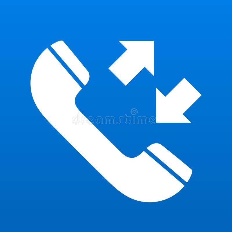 接踵而来和外出的通信传染媒介例证的电话标志 向量例证