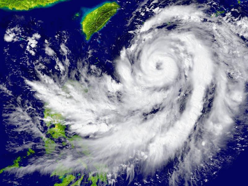 接近东南亚的飓风 库存例证