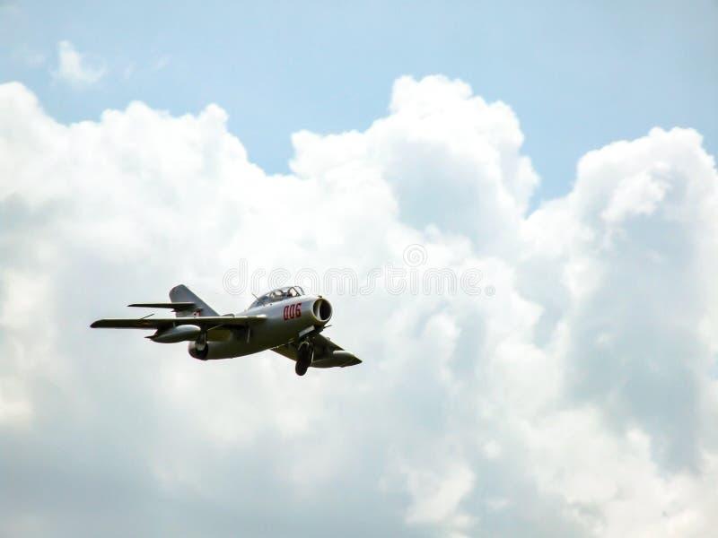 接近为登陆的PZL梅莱茨SBLim-2历史的战机 库存照片