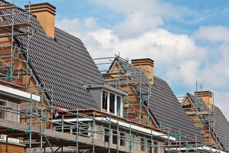 接近建筑系列完成的房子 免版税库存照片