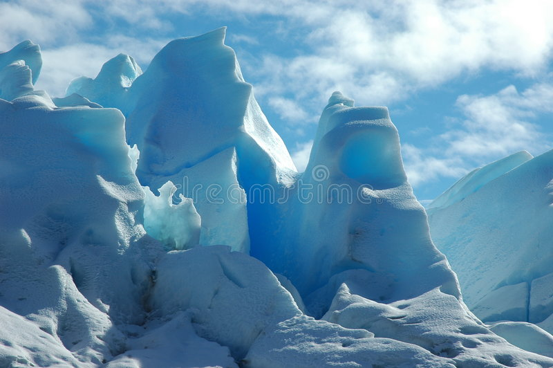 接近的冰川 库存图片