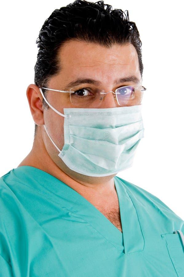 接近的医生镜片面罩 库存图片
