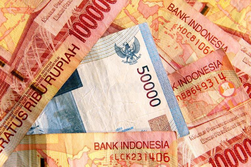 接近的印度尼西亚卢比 图库摄影