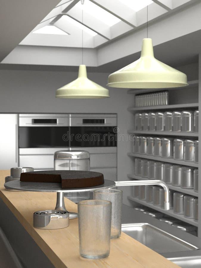接近的厨房顶楼新的约克 向量例证
