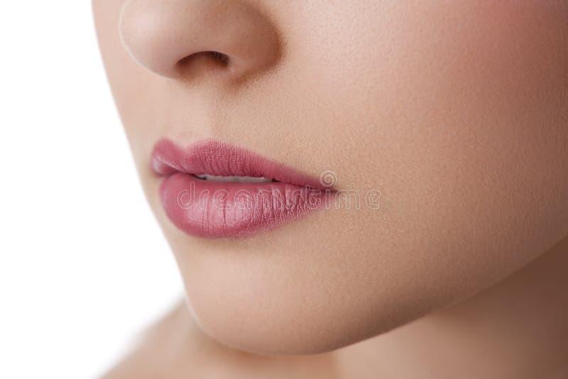 接近的嘴唇自然  免版税库存图片
