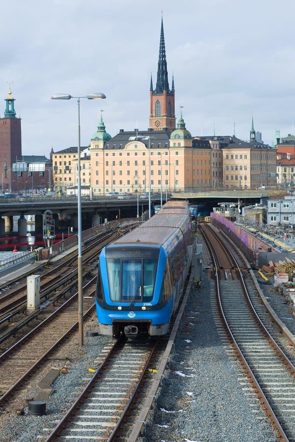 接近的地铁,斯德哥尔摩 图库摄影