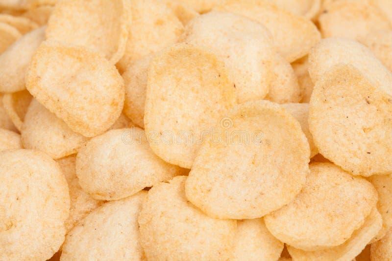 接近的堆虾米薄脆饼干泰国快餐 免版税图库摄影
