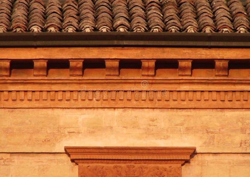 接近的屋顶toscany  库存图片