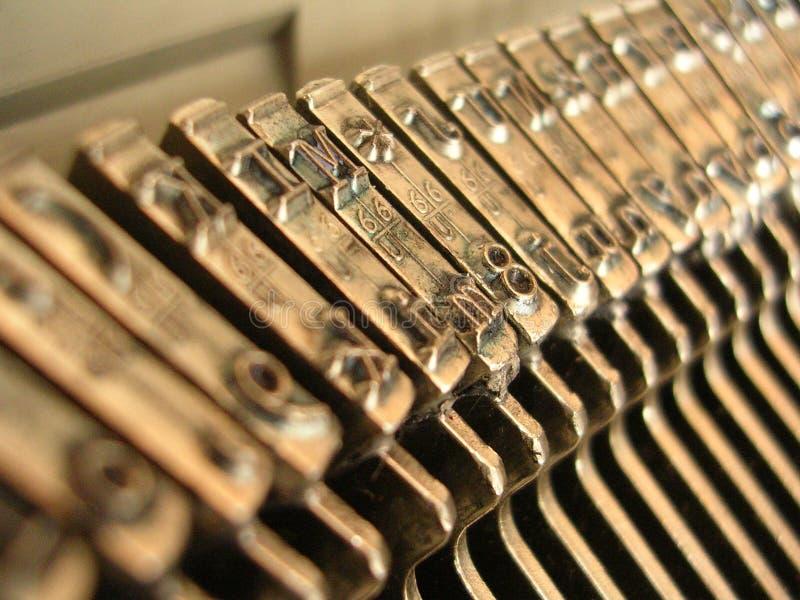 接近的打字机 免版税库存照片