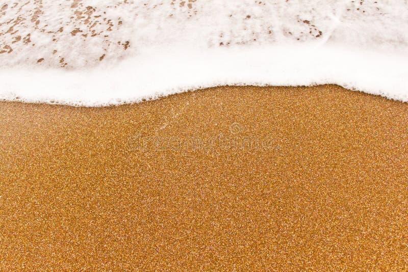接近的沙子海运小的视图通知 免版税库存照片