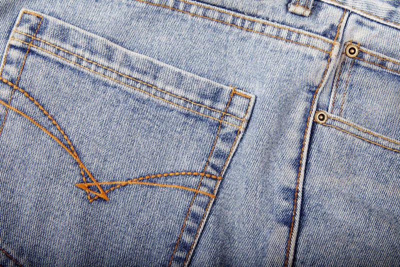 接近的牛仔裤 库存图片