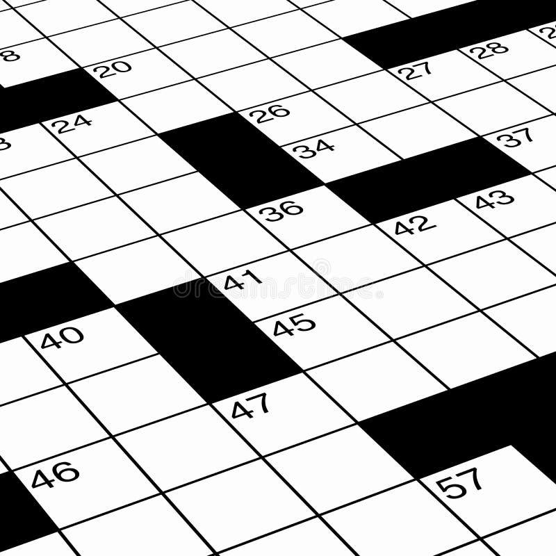 接近的纵横填字谜详细难题 向量例证