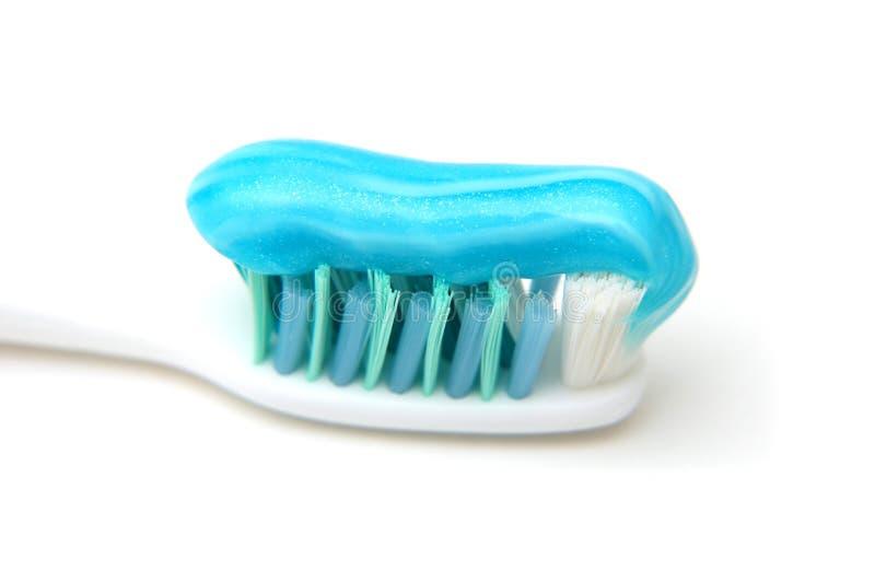 接近的胶凝体牙刷 免版税库存照片