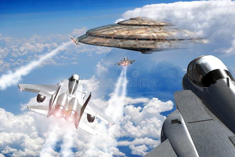 接近的遭遇天空 皇族释放例证