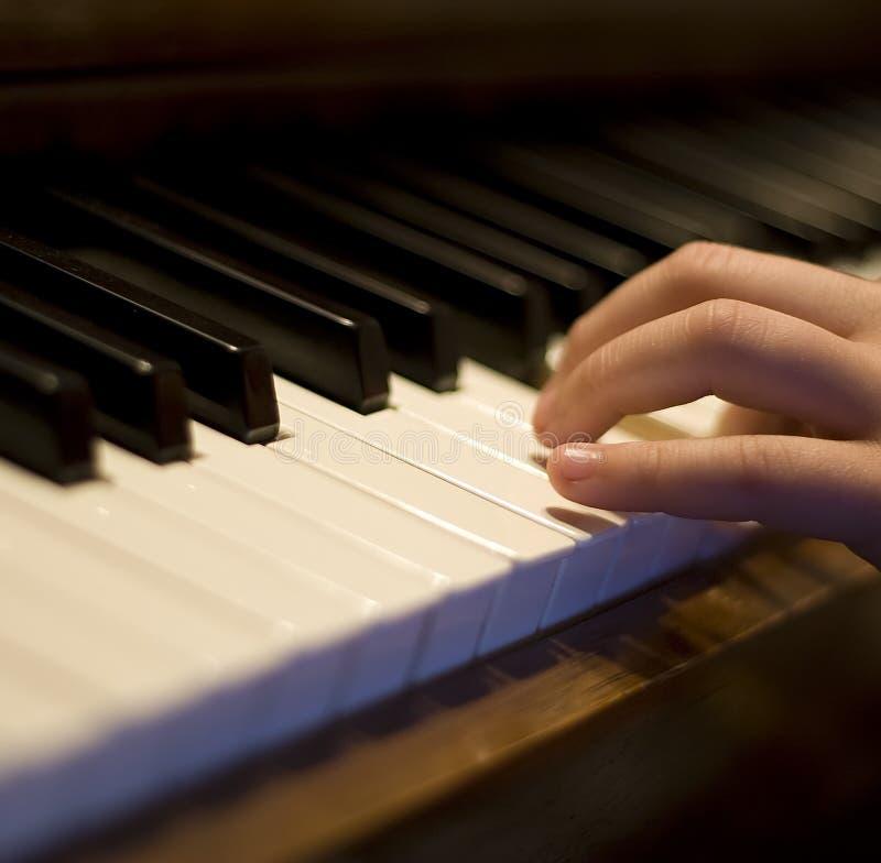 接近的钢琴 免版税图库摄影