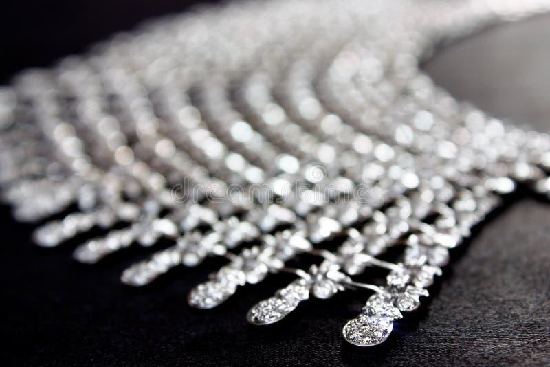 接近的钻石项链 免版税图库摄影