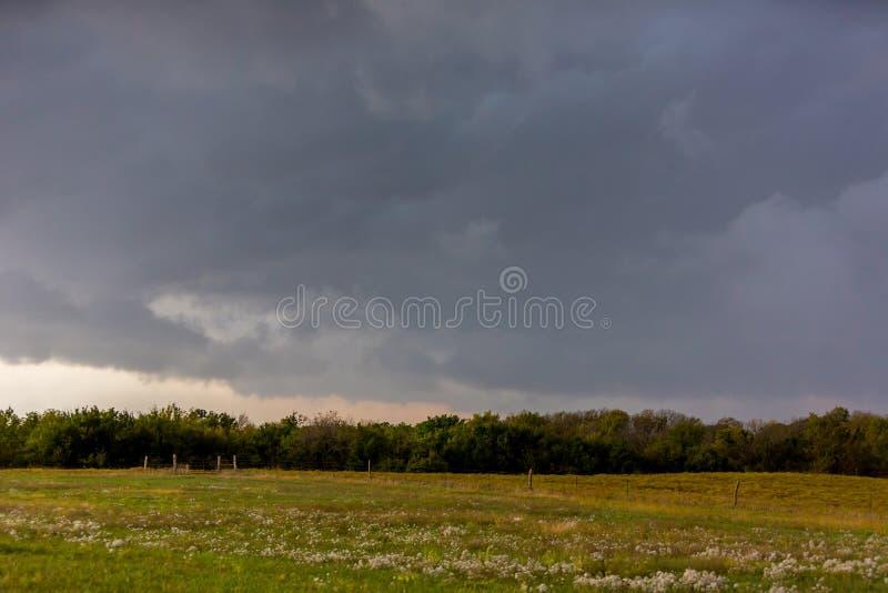 接近的风暴在堪萨斯 库存照片