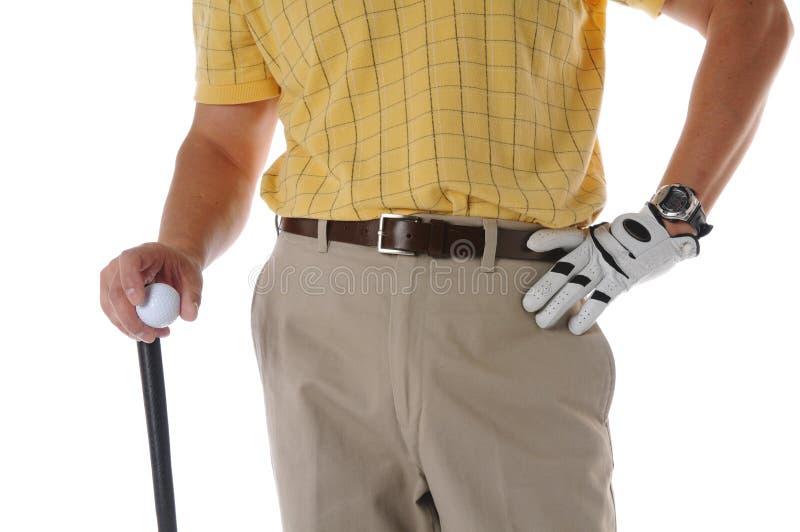 接近的高尔夫球运动员 库存照片