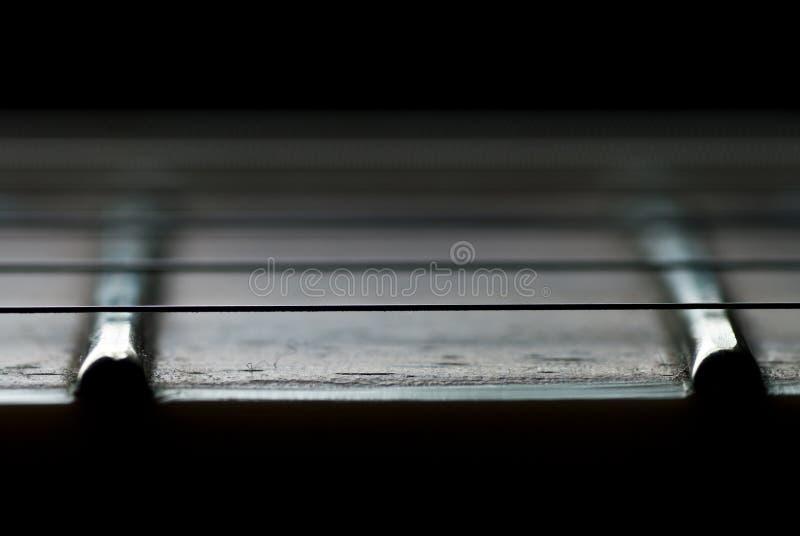 接近的fretboard吉他 库存图片