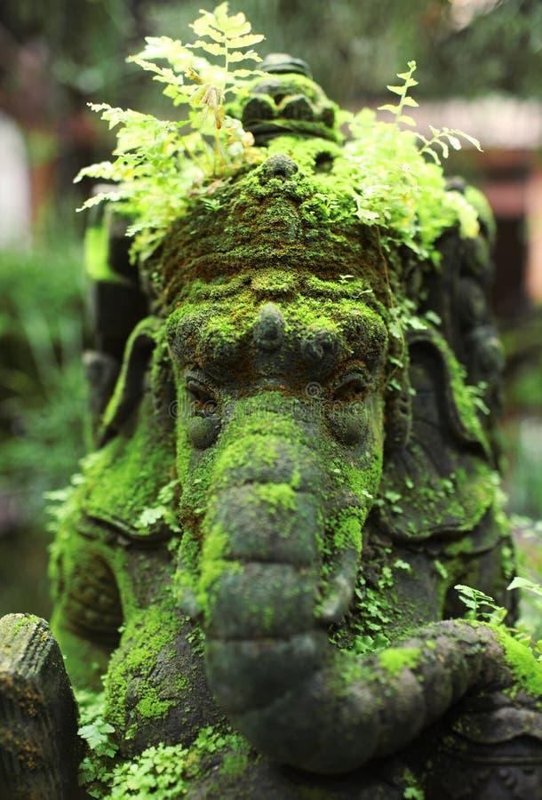 接近的ganesha雕象 免版税库存照片