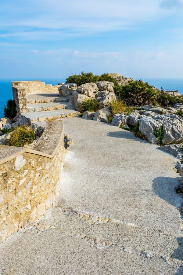 接近盖帽Formentor,马略卡的观点 免版税库存图片