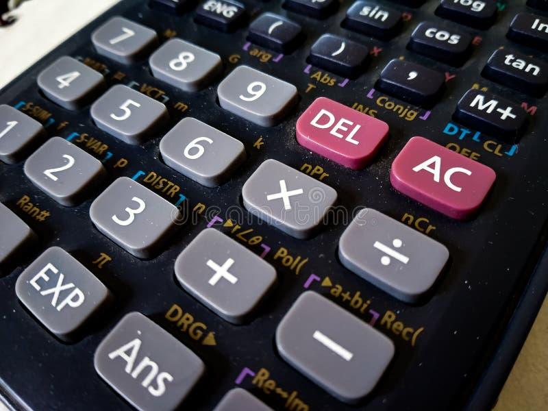 接近科学计算器有白色背景 免版税库存图片