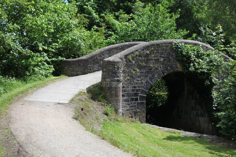 接近纳文的石桥梁 图库摄影