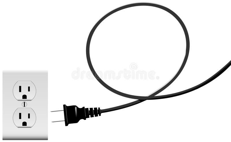 接通电能出口绳子循环 向量例证