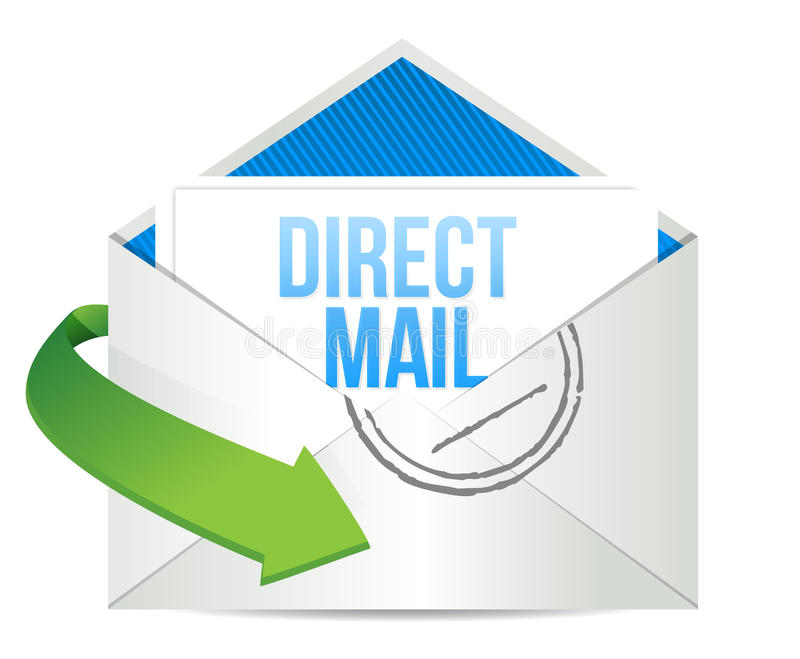 给直接邮件运作的概念做广告 库存例证