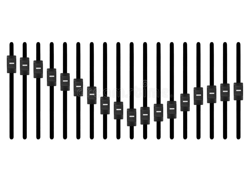 控制台电子搅拌机音乐声音技术 库存例证