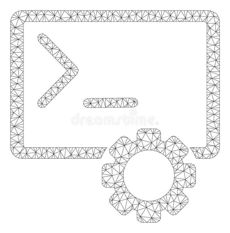 控制台管理多角形框架传染媒介滤网例证 库存例证