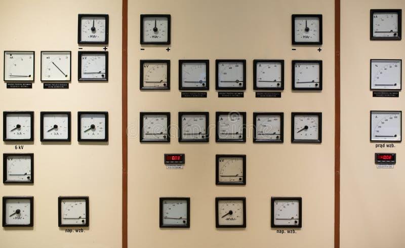 控制室在能源厂 免版税库存照片