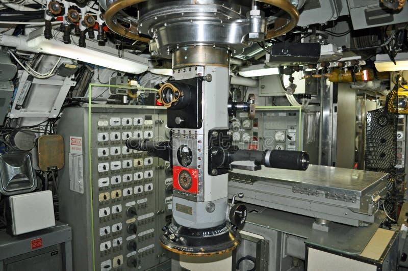 控制室潜水艇 库存图片